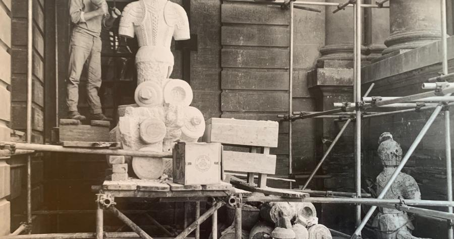 1966 Re-carving the Grinling Gibbons Trophy