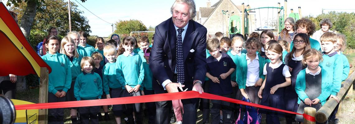 Duke of Marlborough opens new playground