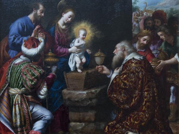 Adoration of Magi Painting