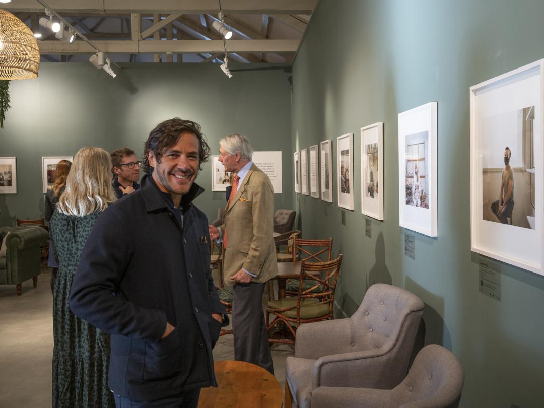 Singer songwriter Jack Savoretti at the launch of Oxford photographer Joanna Vestey's new exhibition in the Stables Cafe at Blenheim Palace