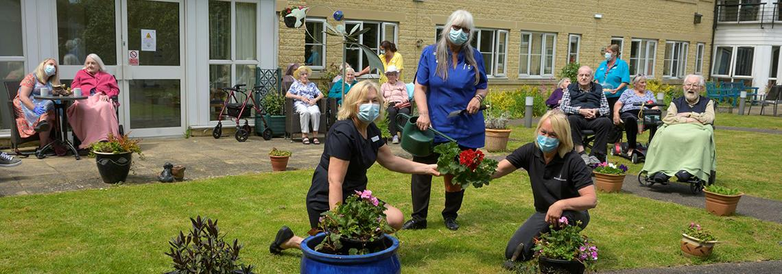 We've Donated Shrubs to Woodstock Care Home