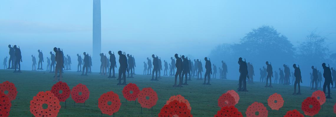 Marking Remembrance Day With 200 Silhouetted Soldiers